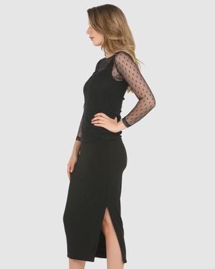 Faye Black Label Bianca Fitted Dress - Bodycon Dresses (Black)