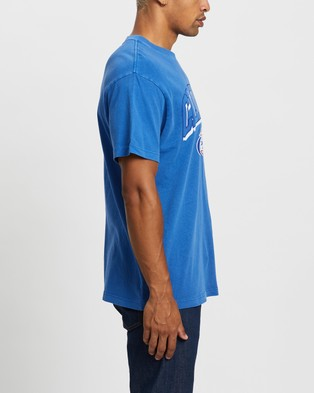 Mitchell & Ness Vintage Keyline Logo Tee   Los Angeles Clippers - Short Sleeve T-Shirts (Faded Royal)