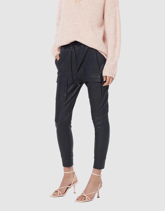 Women Open Season Stretch Leather Pants