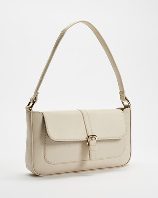Fall The Label Baguette Shoulder Bag with Buckle Handbags Ivory