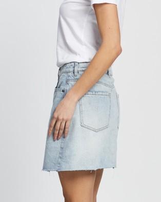 All About Eve Shea Split Denim Skirt - Denim skirts (DENIM)