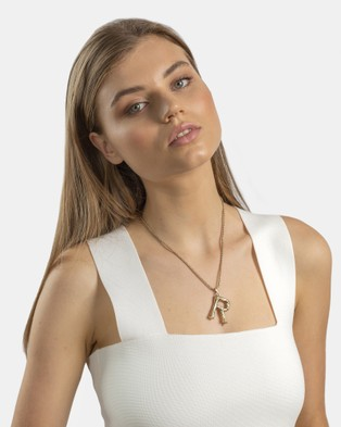 Kitte Bambu Initial Necklace 'R' - Jewellery (Gold)