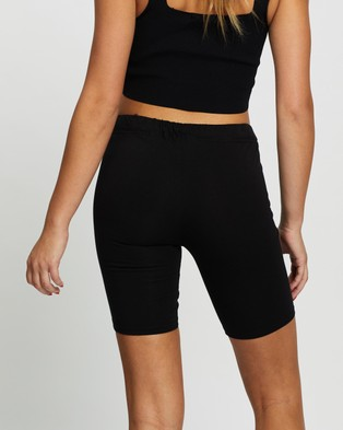 Les Girls Les Boys Jersey Apparel Tight Shorts - High-Waisted (Black)