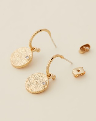 Carly Paiker Crushed Coin Earrings - Jewellery (Gold)