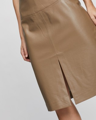 Grace Willow Wrenley Skirt - Leather skirts (Khaki)