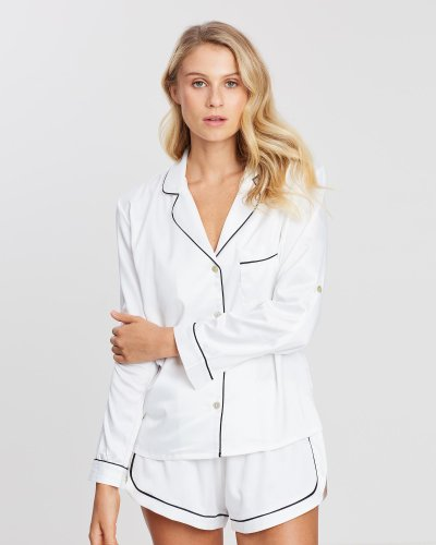 Grace Piping Long Sleeve PJ Set