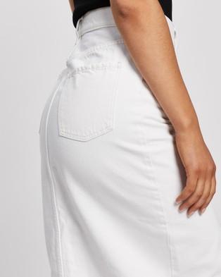 Nobody Denim Stranded Skirt - Denim skirts (White)