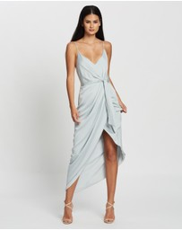 Shona Joy - Luxe Tie Front Cocktail Dress