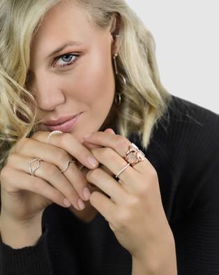 CA Jewellery Gold Midi Chevron Ring - Jewellery (Gold)