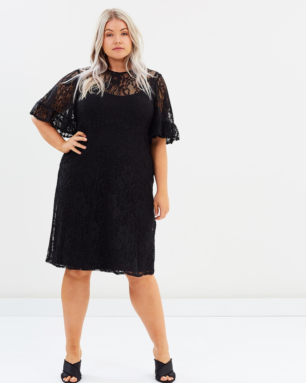 Harlow La Isla Bonita Lace Dress Dresses Black La Isla Bonita Lace Dress