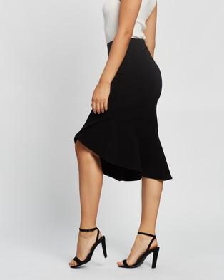 Forcast Margo Asymmetric Midi Skirt - Skirts (Black)