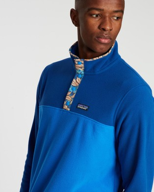 Patagonia Micro D Snap T Pullover - Sweats & Hoodies (Bayou Blue)