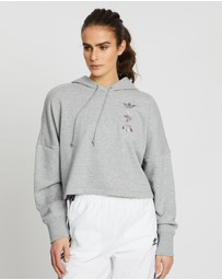 adidas Originals - Large Logo Cropped Hoodie