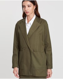 Michael Lo Sordo - Deconstructed Wrap Jacket with Pocket