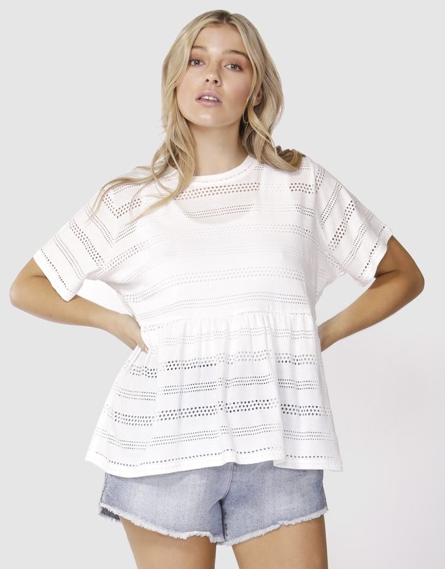 Broderie Tee by Sass