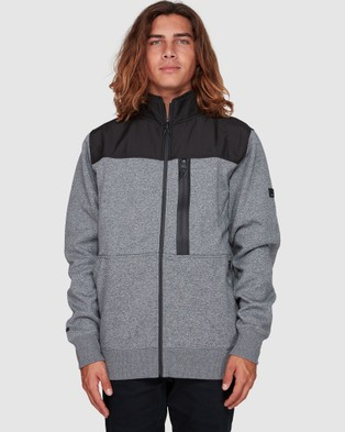 Billabong Quadrant Mock Neck Zip Thru Crew - Coats & Jackets (TECH MARLE)