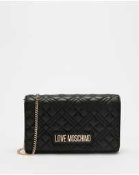 LOVE MOSCHINO - New Shiny Quilted Clutch