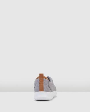 Clarks - Step Allena Bay Low Top Sneakers (Grey Textile)