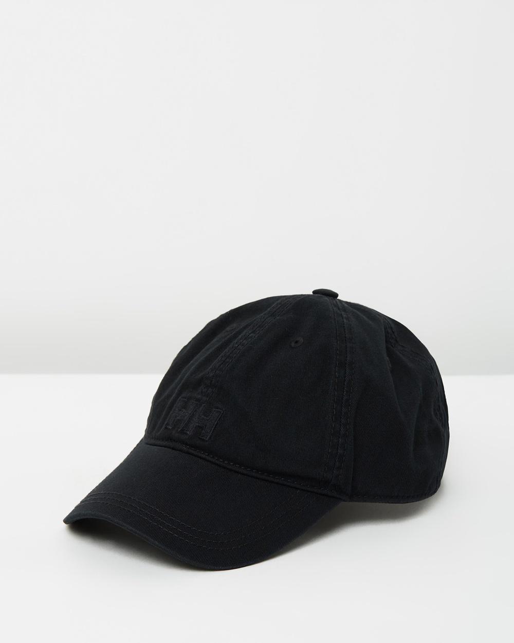 Helly Hansen Logo Cap Headwear Black Caps Australia