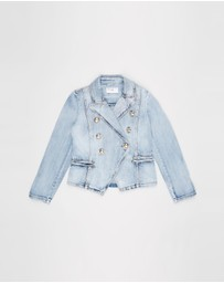 Decjuba Kids - Ellie Denim Blazer Jacket - Kids-Teens