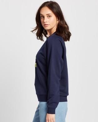 Lacoste Croc Logo Sweatshirt - Sweats (Marine & Subal)