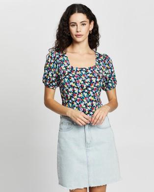 Review Chiara Floral Top - Tops (Navy Multi)