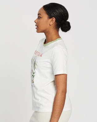Ryder Wattle Guide Tee - T-Shirts & Singlets (White)