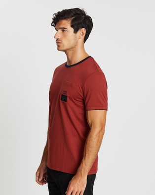 Kent and Curwen Short Sleeve Tee - T-Shirts & Singlets (Red)