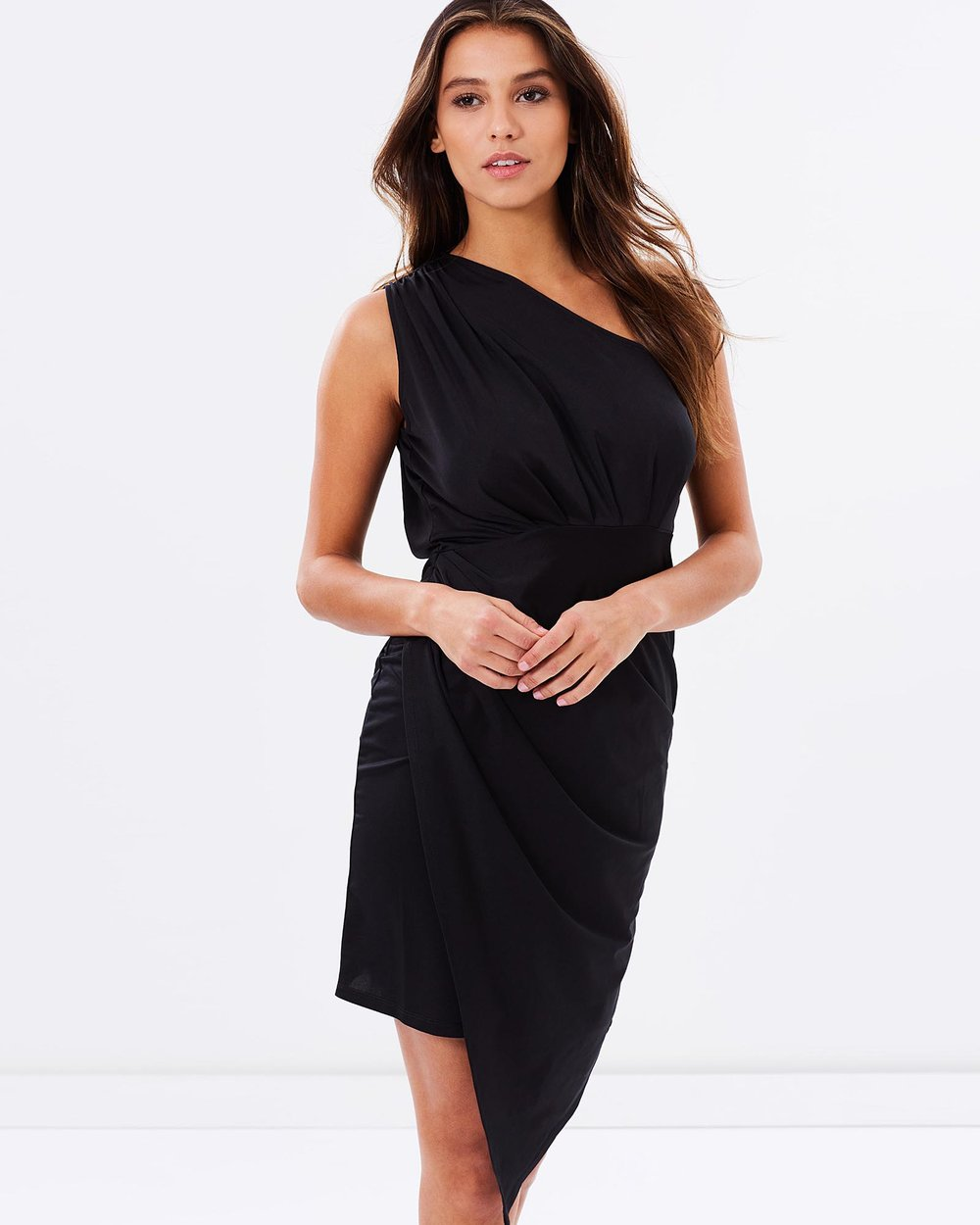 1c08721214d One Shoulder Asymmetrical Dress by SKIVA Online | THE ICONIC | Australia