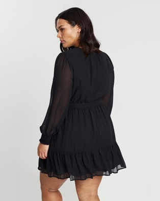 Atmos&Here Curvy Melissa High Neck Dress Dresses Black