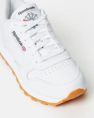 Reebok Classic Leather   Unisex - Sneakers (Intense White & Gum)
