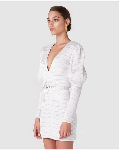 Atoir All The Same Dress White Blue & Black