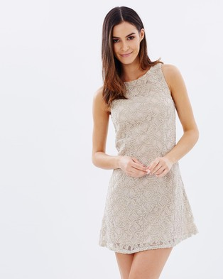 Atmos & Here – Whimsical Shift Dress – Dresses (Nude)