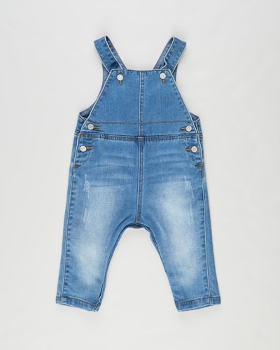 Watch Dog Denim Overalls - Babies-Kids