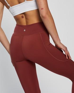 Dharma Bums Wonder Luxe Bondi Pocket 7 8 Leggings - 7/8 Tights (Rustic)