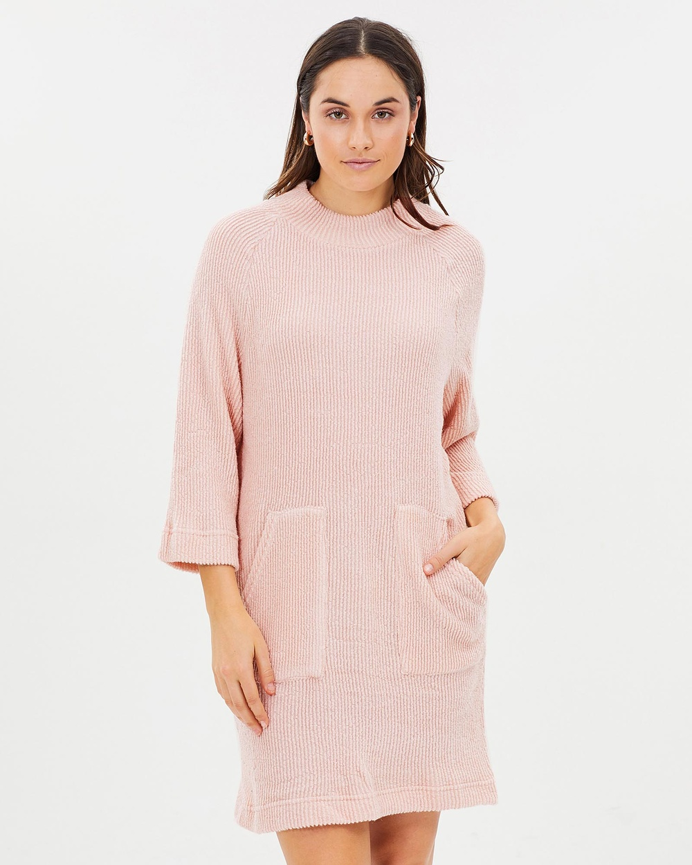 Privilege Witchcraft Oversized Tunic Dress Dresses Baby Pink Witchcraft Oversized Tunic Dress