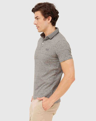 Superdry Superdry Organic Cotton Jersey Polo Shirt - T-Shirts & Singlets (Stone Grey Feeder)
