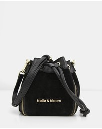 Belle & Bloom - Fallin For You Suede Mini Bucket Bag