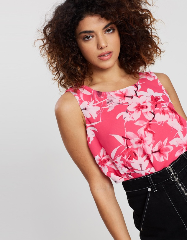 Wallis Petite - Orchid Over Layer Shell Top