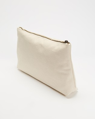 AERE Organic Canvas Pouch Bags & Tools Natural