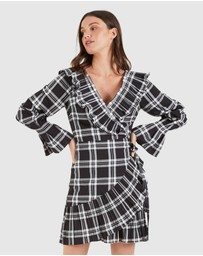 Cooper St - Cascade Long Sleeve Wrap Dress