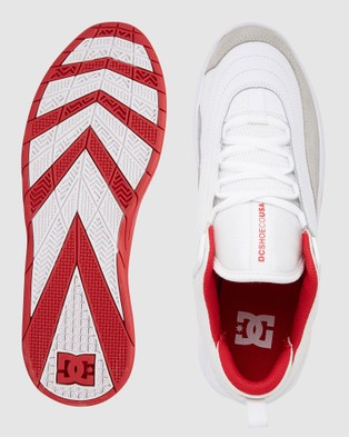 DC Shoes Mens Williams Slim Shoe - Sneakers (WHITE/GREY/RED)