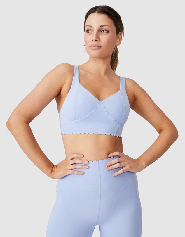 Cotton On Body Active - Plunge Scallop Crop