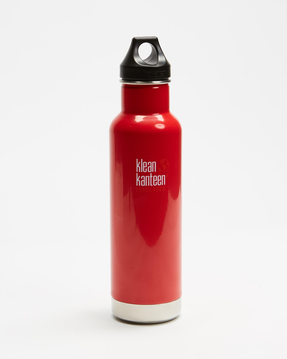 Klean Kanteen 20oz Insulated Classic Loop Bottle Running Mineral Red