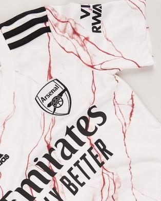 adidas Performance Arsenal 20 21 Away Jersey   Teens - T-Shirts & Singlets (White)