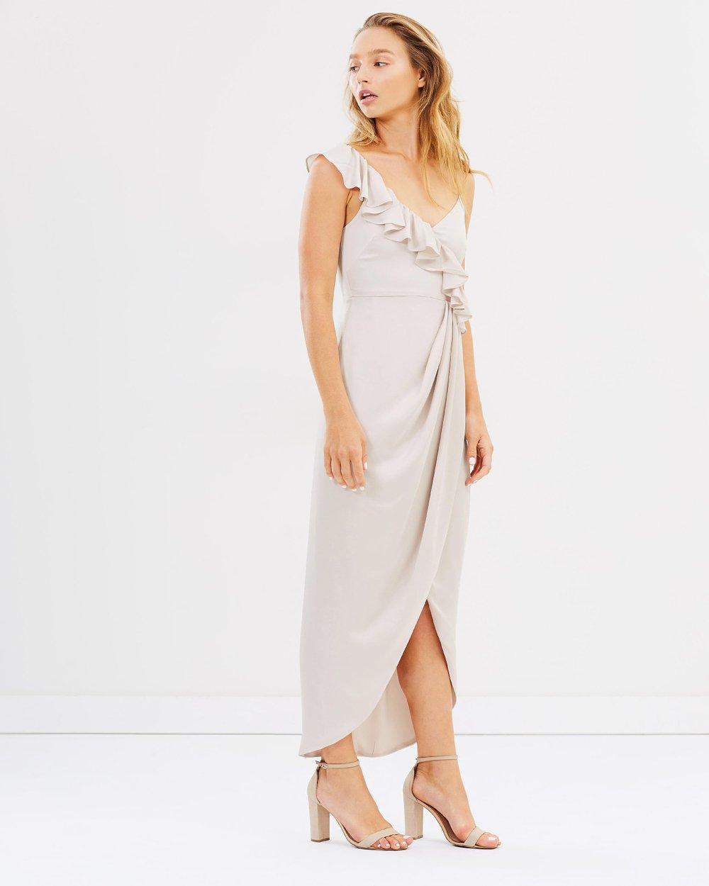 3299d900b70 Luxe Asymmetric Ruffle Dress by Shona Joy Online