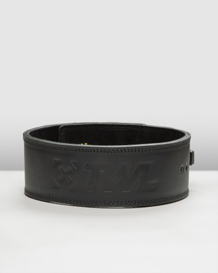 The WOD Life Leather Lever Belt 2.0 - Gym & Yoga (Black)