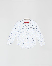 Billybandit - Button-Up Dog Shirt - Kids-Teens