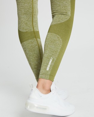 Doyoueven Impact Seamless Leggings - Full Tights (Olive Green)