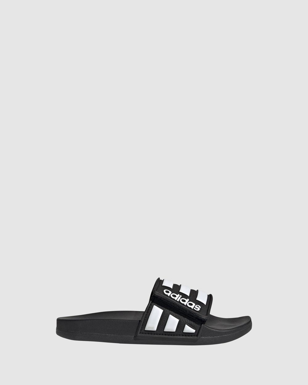 adidas Performance Adilette Comfort Adjustable K Sandals Black/White